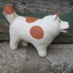 cane bianco - rosso