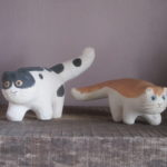 gatto bianco-rosso e bianco - nero